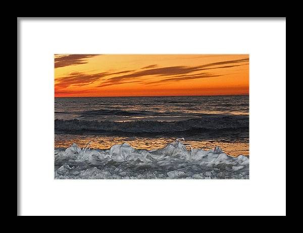 Sunset Framed Print featuring the photograph Sunset Meringue by Christine Stonebridge