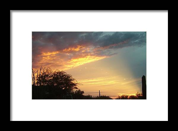 Sunset Framed Print featuring the photograph Sunset Monsoon Sky by Fran Loando