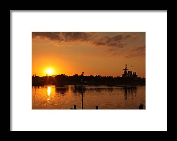 Framed Print featuring the photograph Sunset On Cape Fear by Lisa McLean Adams