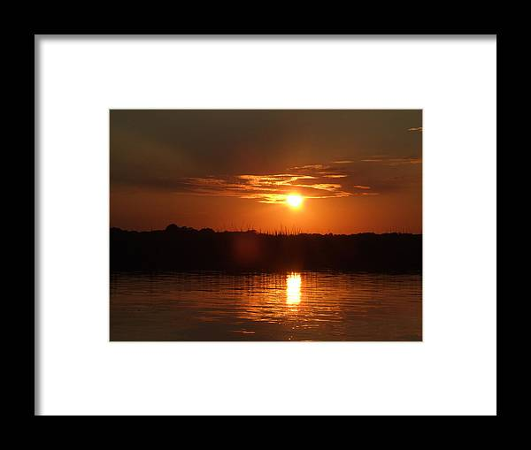 Sunset Framed Print featuring the photograph Sunset On Lake Wylie by Wendy Hope