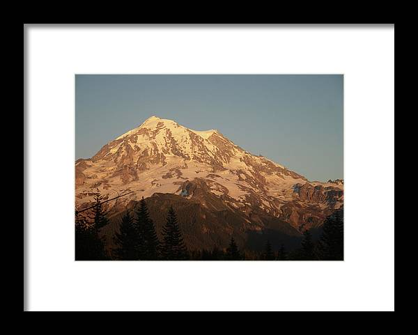 Sunset Framed Print featuring the photograph Sunset on the Mountain by Michael Merry