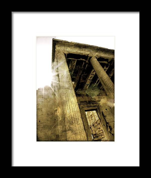 Parthenon Framed Print featuring the photograph Sunset On The Parthenon by Stacey Granger