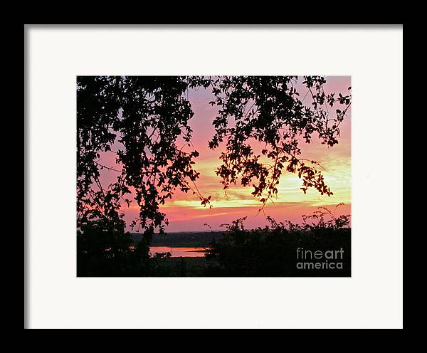 Sunset Framed Print featuring the photograph Sunset Over Canyon Lake by Randi Shenkman