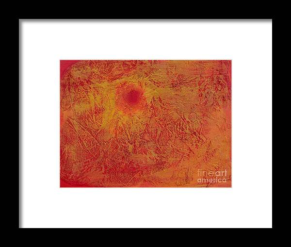 Sunset Framed Print featuring the painting Sunset by Renate Behr