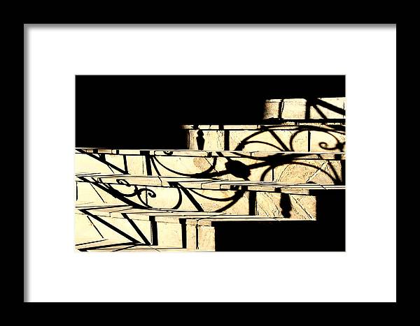 Sunset Framed Print featuring the photograph Sunset Steps by Valentino Visentini