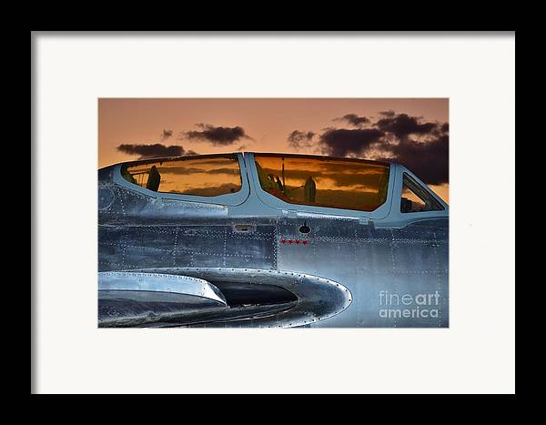 1951 Russian Mig Framed Print featuring the photograph Sunset Through The Cockpit by Lynda Dawson-Youngclaus