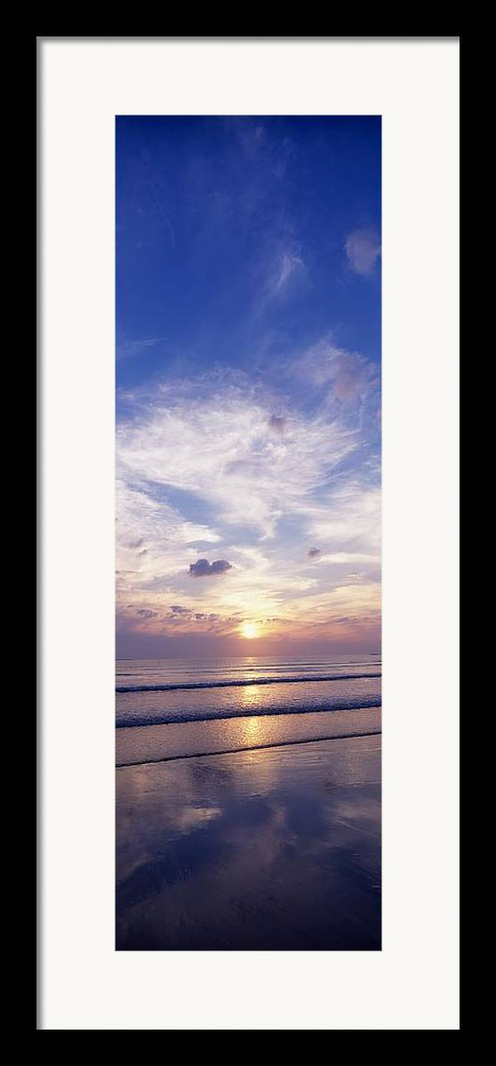 Beach Framed Print featuring the photograph Sunsets Over The Beach, Magheraroarty by The Irish Image Collection