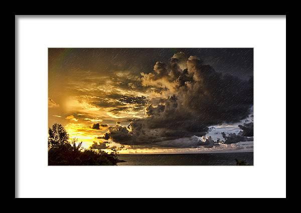 Sun Storm Framed Print featuring the photograph Sunstorm by Douglas Barnard
