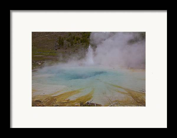 Yellowstone Framed Print featuring the photograph Superior Geyser 1 by Charles Warren