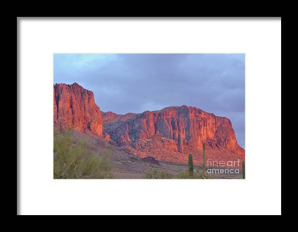 Superstiions Framed Print featuring the photograph Superstitions After The Rain by Patty Descalzi
