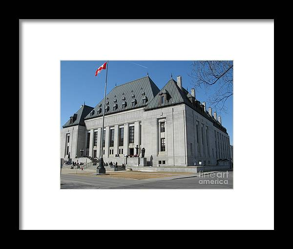 Supreme Court Of Canada Framed Print featuring the photograph Supreme Court Of Canada by Donica Abbinett