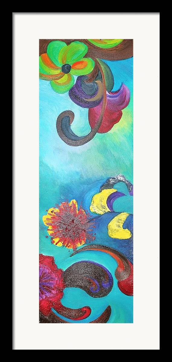 Surreal Framed Print featuring the painting Surreal Dream by Derya Aktas