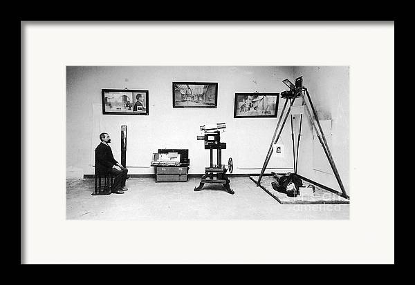 Science Framed Print featuring the photograph Surveillance Equipment, 19th Century by Science Source