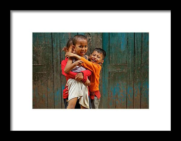 Children Framed Print featuring the photograph Survival Of The Fittest by Valerie Rosen