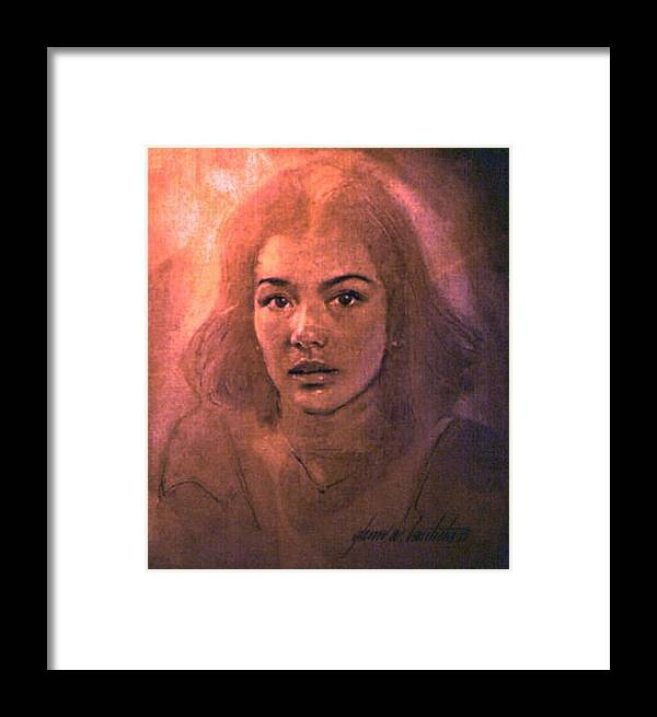 Susan Framed Print featuring the painting Susan 1980 B by Glenn Bautista