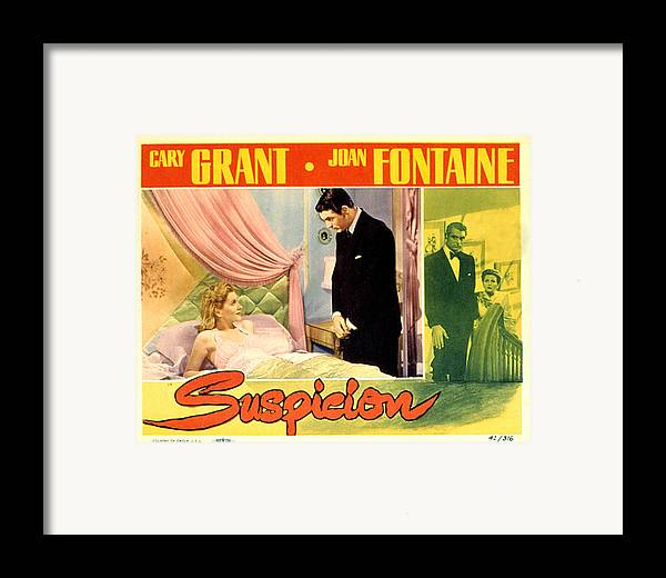 1940s Movies Framed Print featuring the photograph Suspicion, Joan Fontaine, Cary Grant by Everett