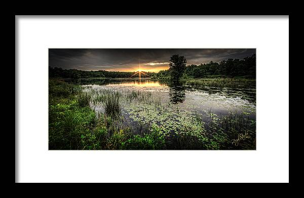 Sunrise Framed Print featuring the photograph Swamp Sunrise by Everet Regal