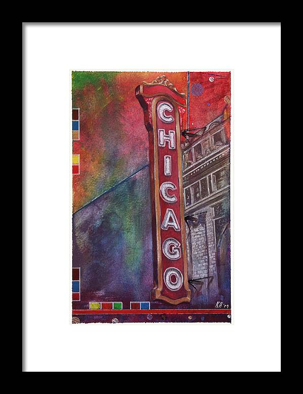 Watercolor Framed Print featuring the painting Sweet Home Chicago by Ken Hancock
