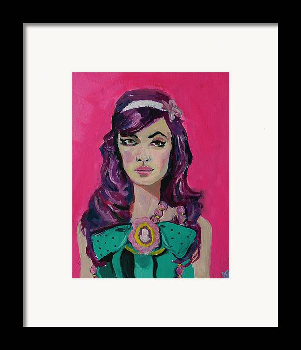 Portrait Framed Print featuring the painting Sweet Like Barbie by Adam Kissel