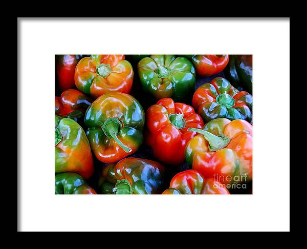 Pepper Framed Print featuring the photograph Sweet Peppers by Guy Harnett