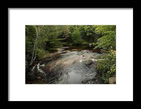 Water Framed Print featuring the photograph Swift River by Robert Anschutz