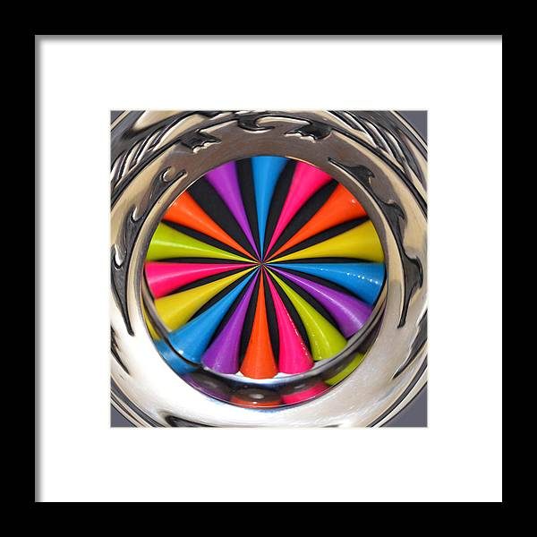 Digital Framed Print featuring the digital art Swirled Color by Diane Wood