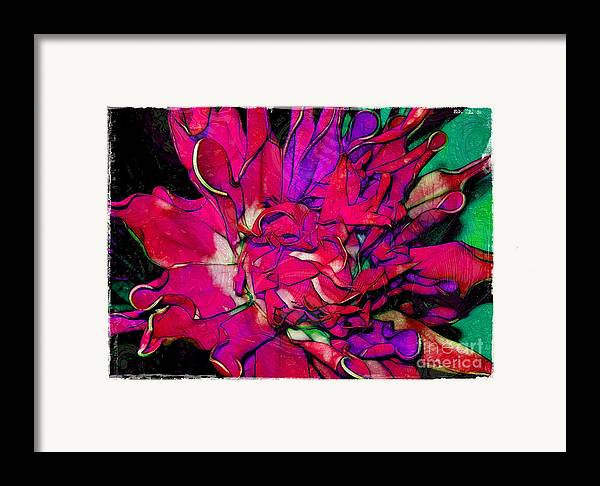 Fabric Framed Print featuring the photograph Swirly Fabric Flower by Judi Bagwell