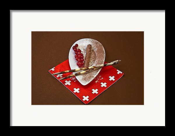 Chocolate Framed Print featuring the photograph Swiss Chocolate Praline by Joana Kruse