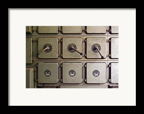 Automation Framed Print featuring the photograph Switch Panel by Carlos Caetano