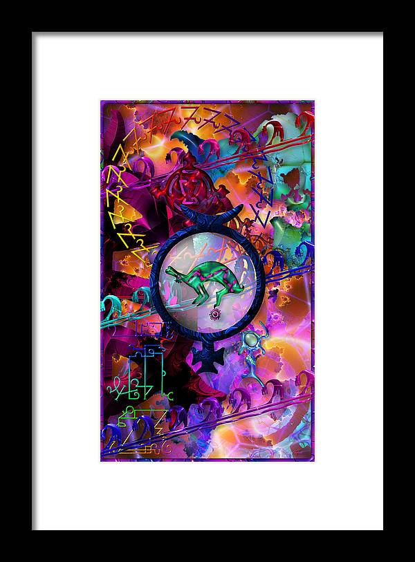 Symagery Framed Print featuring the digital art Symagery 23 by Kenneth Armand Johnson