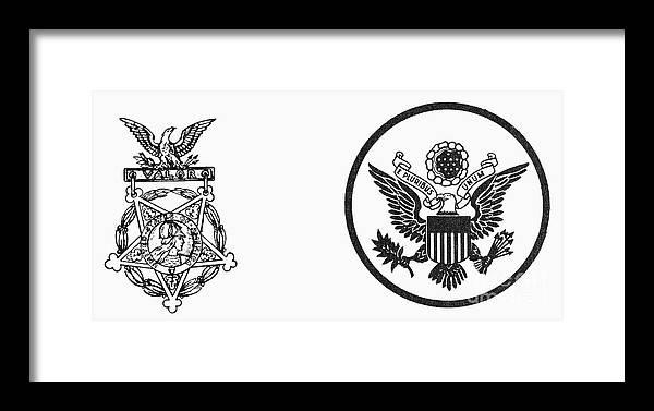 Symbols: U s  Army Framed Print