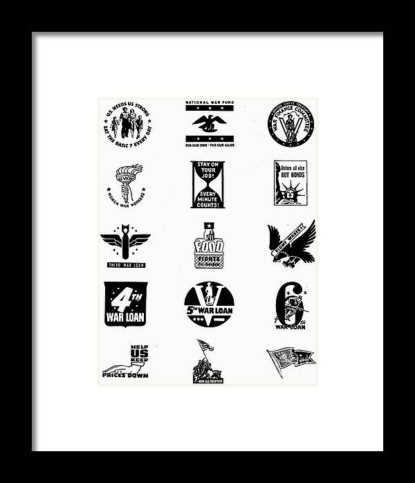 Symbols World War Ii Framed Print By Granger