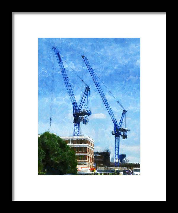 Blue Framed Print featuring the photograph Synchronicity by Steve Taylor