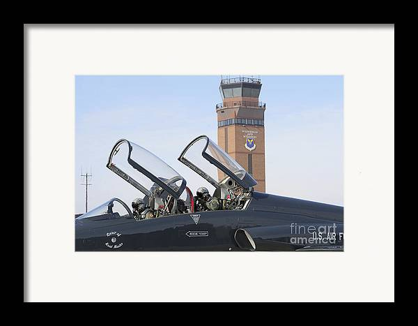 Us Air Force Framed Print featuring the photograph T-38 Talon Pilots Make Their Final by Stocktrek Images