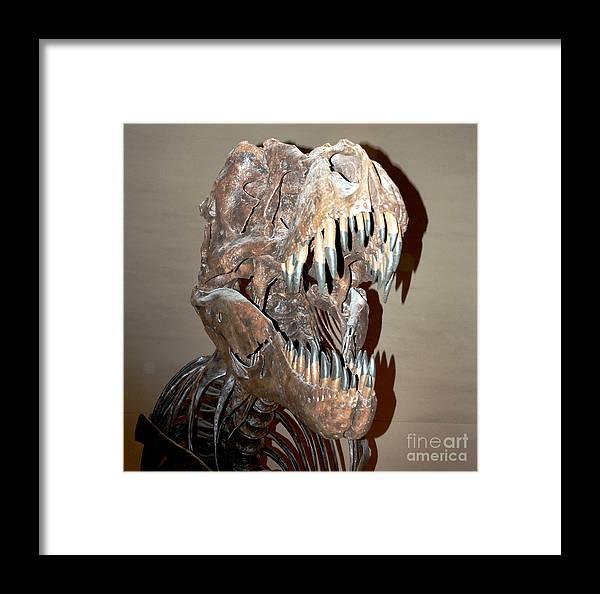 T Rex Framed Print featuring the digital art T Rex by Pravine Chester