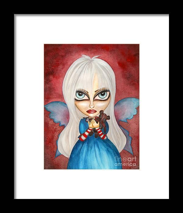 Big Eye Art Framed Print featuring the painting Tabitha by Alysa Fioretzi