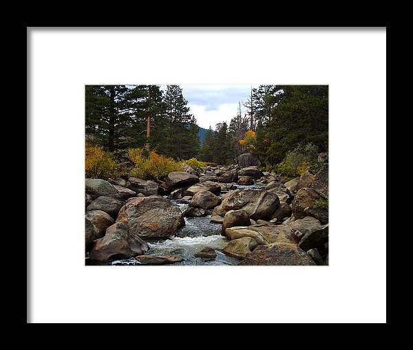 Lake Framed Print featuring the photograph Tahoe Creek by Joshua Benk