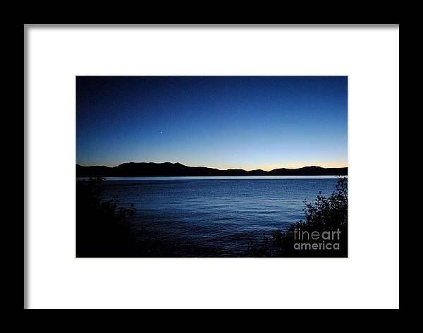 Sunset Framed Print featuring the Tahoe Sunset by Sean McGuire