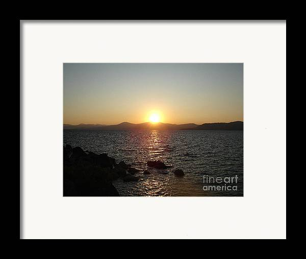 Sunset Framed Print featuring the photograph Tahoe Sunset by Silvie Kendall