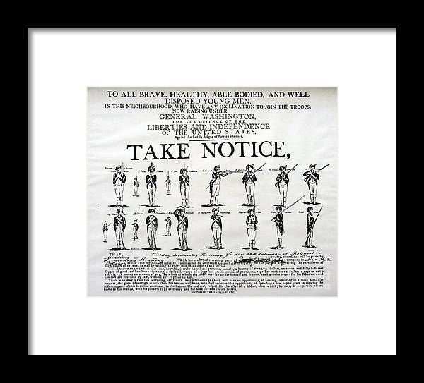 Notice Framed Print featuring the photograph Revolutionary War Take Notice by Susan Carella