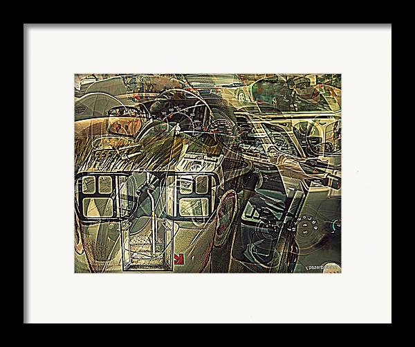 Take The Helm Framed Print featuring the digital art Take The Helm by Paulo Zerbato