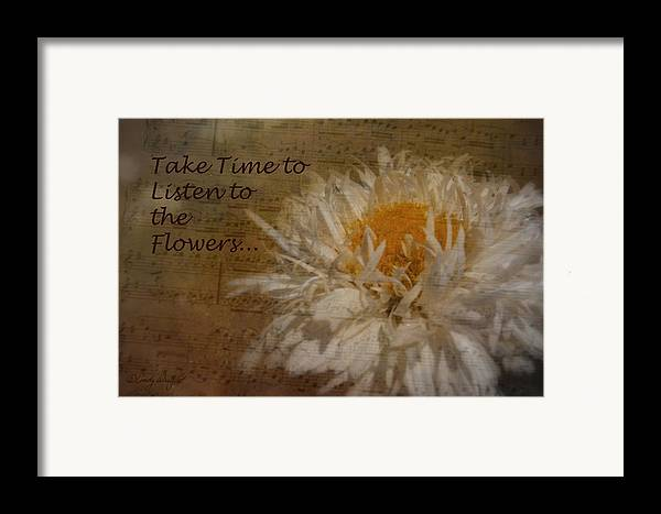 Cindy Framed Print featuring the photograph Take Time by Cindy Wright