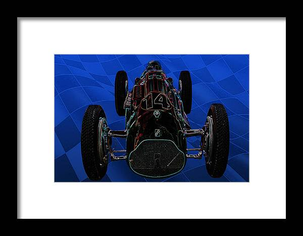 Framed Print featuring the photograph Talbot Lago T26c Body 110054 by Mike Capone
