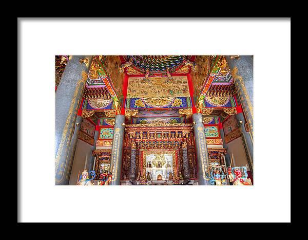 Temple Framed Print featuring the photograph Taoist Temple 6 by Tad Kanazaki