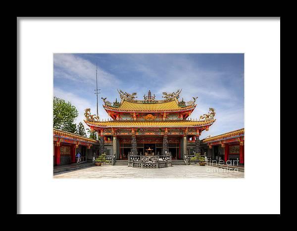 Japna Framed Print featuring the photograph Taoist Temple by Tad Kanazaki