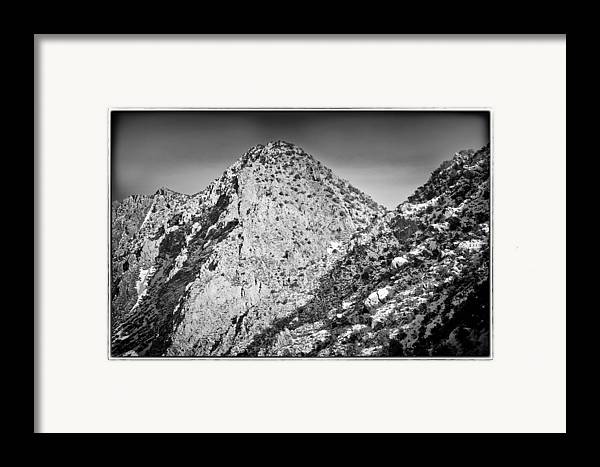 Nature Framed Print featuring the photograph Taos Mountain 3 by Lisa Spencer