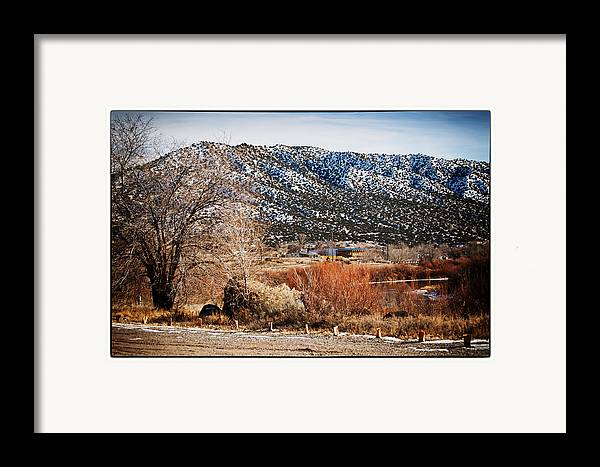 Taos Framed Print featuring the photograph Taos Mountain View 1 by Lisa Spencer