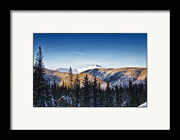 Landscape Framed Print featuring the photograph Taos Mountains Sunset by Lisa Spencer