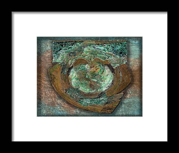 Brown Framed Print featuring the digital art Tarnish And Brass by David Glotfelty