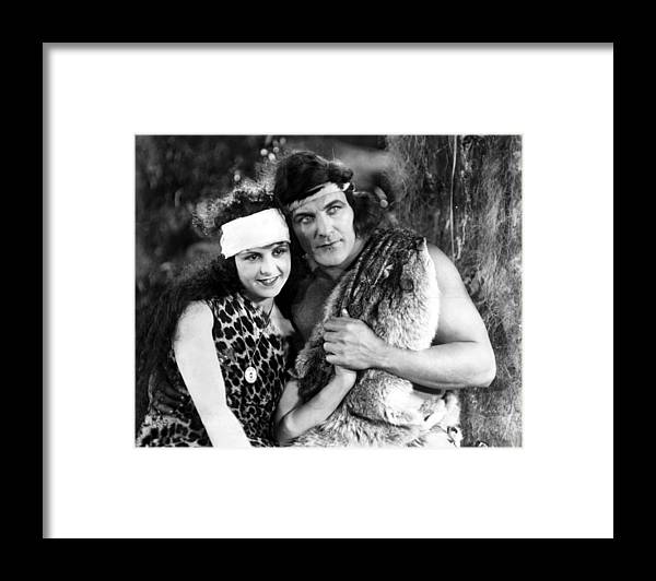 1918 Framed Print featuring the photograph Tarzan, 1918 by Granger